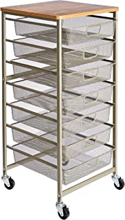 AmazonBasics Rolling Storage Cart and Organizer with 7 Metal Mesh Drawers: Industrial & Scientific