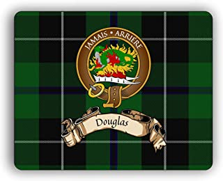 Scottish Clan Douglas Tartan Crest Computer Mouse Pad