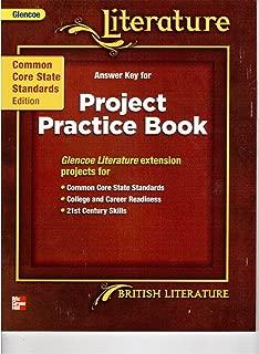 Glencoe Literature Answer Key for Project Practice Book British Literature