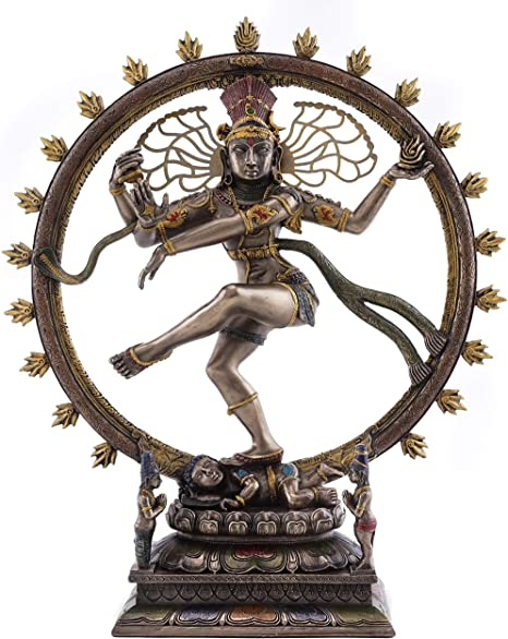 Amazon.com: Top Collection Dancing Nataraja Shiva Statue- Divine Hindu Figurine that Destroys Evil, Ignorance, and Death in Premium Cold Cast Bronze- 10.5-Inch Collectible East Asian Meditating Sculpture: Home & Kitchen