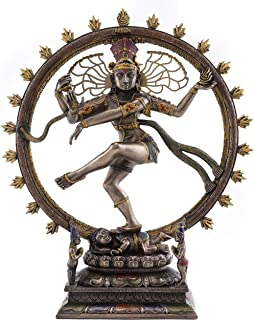 Top Collection Dancing Nataraja Shiva Statue- Divine Hindu Figurine that Destroys Evil, Ignorance, and Death in Premium Cold Cast Bronze- 10.5-Inch Collectible East Asian Meditating Sculpture