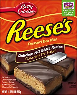 Betty Crocker Hershey's Dessert Bar Mix Reese's No Bake Recipe 16.0 oz Box