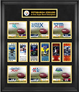 Pittsburgh Steelers Framed Super Bowl Replica Ticket & Score Collage - Limited Edition of 1000 - NFL Ticket Plaques and Collages