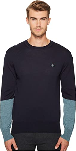 Vivienne Westwood - Color Block Crew Neck Sweater