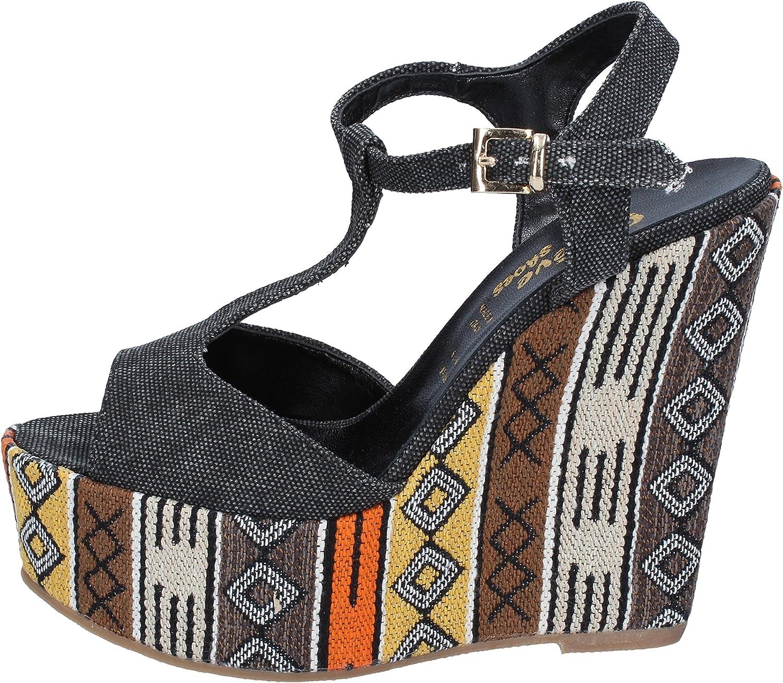 GENEVE SHOES Sandals Womens Black
