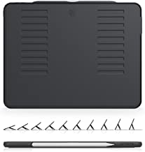 The Muse Case - 2018 iPad Pro 12.9 inch 3rd Gen (New Model) - Very Protective But Thin + Convenient Magnetic Stand + Sleep/Wake Cover by ZUGU CASE (Black)