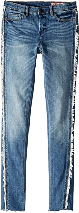 Denim Jeans Skinny with Shredding Detailing on the Side in Wanderer (Big Kids)