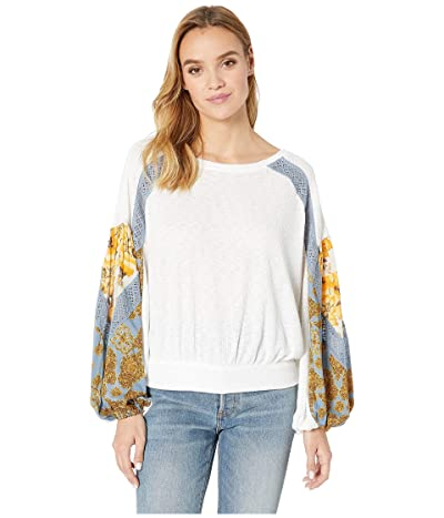 Free People Casual Clash Top (Ivory) Women