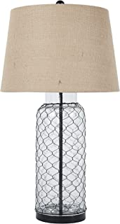 Ashley Furniture Signature Design - Sharmayne Glass Table Lamp - Farmhouse Style - Clear