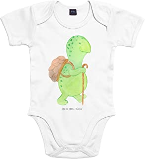 Mr. & Mrs. Panda Mr. & Mrs. Panda Strampler, Babysuit, 18-24 Monate Baby Body Schildkröte Wanderer - Farbe Transparent