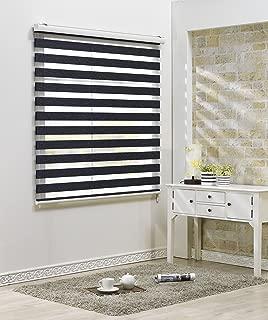 Custom Cut to Size , [Winsharp Combi Bella , Charcoal , W 23 x H 72 (Inch)] Roller Zebra Fabric Shade Horizontal Window Blinds & Treatments , Maximum 91 Inch Wide by 103 Inch Long