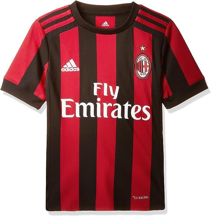 adidas 17/18 AC Milan Home T-Shirt Bambino