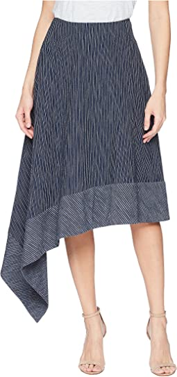 Kasuri Denim Side Swag Skirt