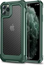 PTUONIU Heavy Duty Case for iPhone 11 Pro Max, [Matte Translucent] [Scratch-Resistant] [Military Grade Protection] Hard PC + Flexible TPU Frame, for iPhone 11 Pro Max, Midnight Green