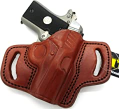 HOLSTERMART USA TAGUA BH3 Right Hand Brown Leather Open Top OWB Belt Holster for COLT Mustang 380 and POCKETLITE