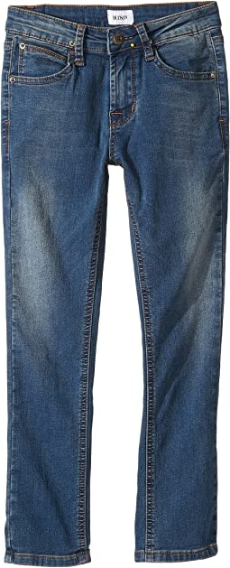 Hudson Kids - Jagger Slim Straight - Knit Denim in Beaten Blue (Toddler/Little Kids/Big Kids)