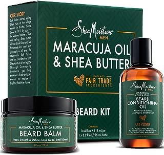 Shea Moisture Beard Oil & Balm Grooming Kit For Men, Organic All natural Maracuja & Shea Oils, Beard Conditioning Oil, 3.2 Ounce & Beard Balm, 4 Ounce. Moisturize & Soften