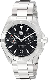 Aquaracer Chronograph Black Dial Stainless Steel Mens Watch WAY111Z.BA0928