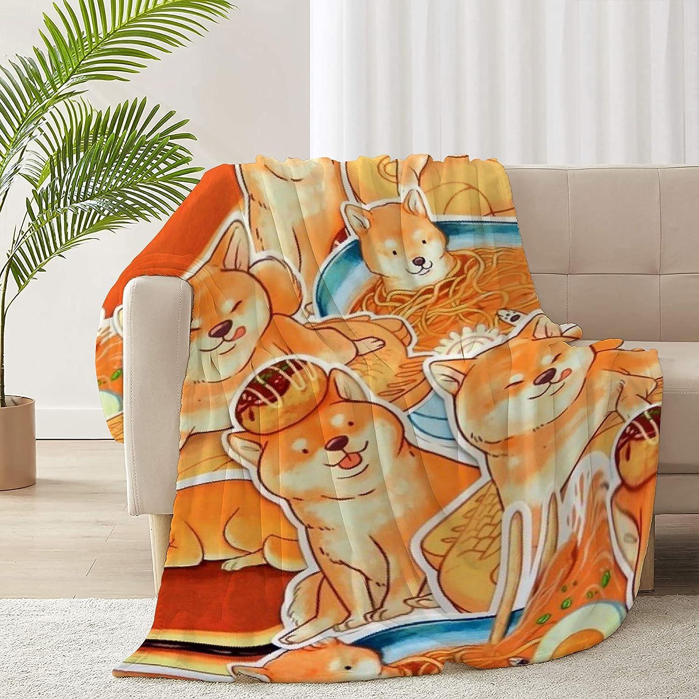 ARNOVIC Shiba Inu 2021new shipping free Dog Virginia Beach Mall Blanket Soft Comfortable Flannel Micro and