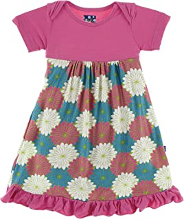 0798fc3f8 Kickee Pants Little Girls Short Sleeve One Piece Dress Romper