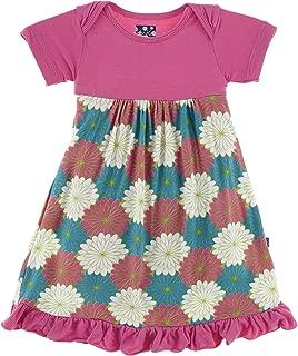 Little Girls Short Sleeve One Piece Dress Romper