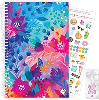 "bloom daily planners 2020-2021 Academic Year Day Planner (July 2020 - July 2021) - 6"" x 8.25"" - Weekly/Monthly Calendar Agenda Book Organizer with Stickers & Bookmark - Floral Jungle"