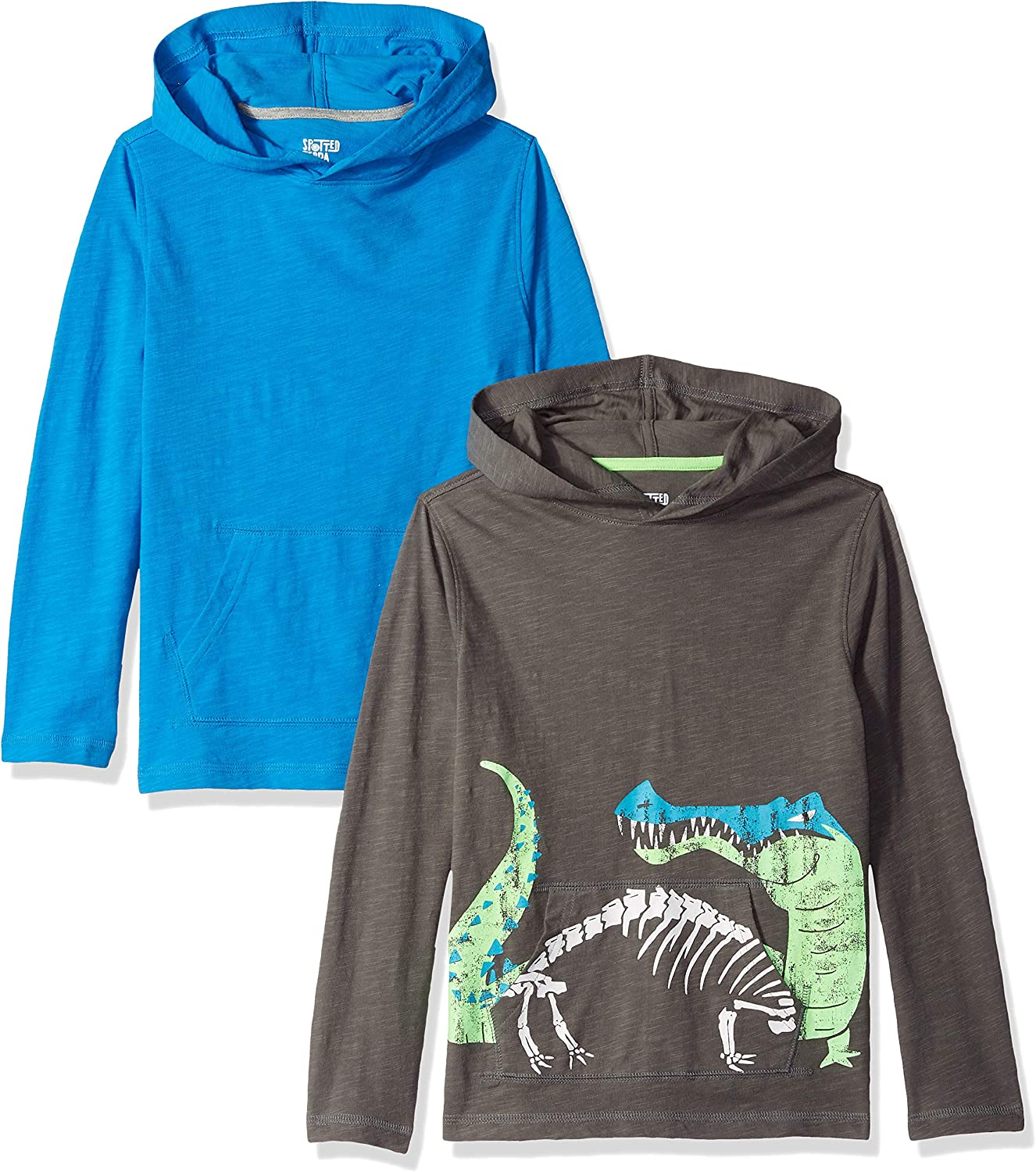 Marca Spotted Zebra Boys 2-pack Hooded Jersey Long Sleeve Tee fashion-t-shirts Ni/ños