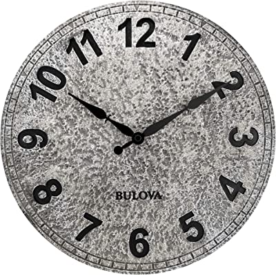 Bulova C4126 Granite Wall Clock, Aged Stone