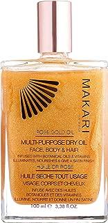 Makari 24k Rose Gold Multi-Purpose Dry Shimmer Oil 3.8 oz. – Natural Minerals Illuminate And Nourish Skin Exposing A Shimmering Finish – Luxurious Formula