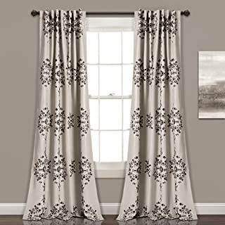 Lush Decor Lush DÃcor Keya Medallion Room Darkening Window Curtain Panel Pair, 84