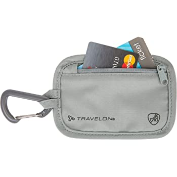 Travelon RFID Blocking Clip Stash Pouch, Gray, One Size