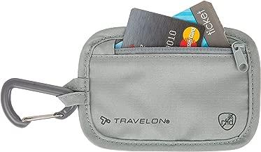 Travelon Travelon Rfid Blocking Clip Stash Pouch, Gray (gray) - 13368-510