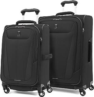 Travelpro Maxlite 5 Softside Expandable Spinner Wheel Luggage, Black, 2-Piece Set (21/25)
