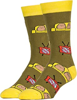 JYinstyle Funny Novelty Socks Mens Crew Couch Potato Party