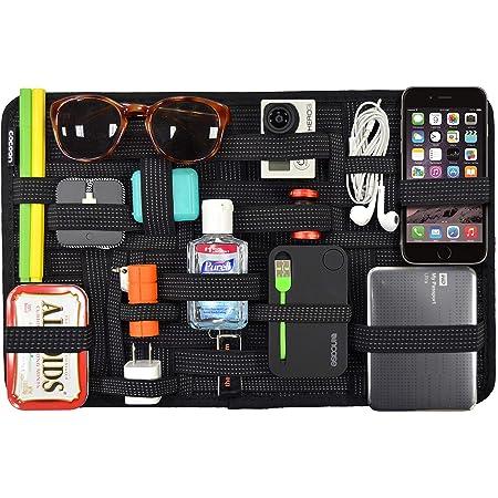COCOON GRID-IT - Poche Pour Tablette Écran 15 Pouces | Système d' Élastiques pour Ranger vos Objets et Dispositifs | Noir - 1 x 24,4 x 38,4 cm