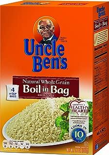 UNCLE BEN'S Boil-In-Bag: Whole Grain Brown (12pk)