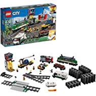 LEGO City Cargo Train 60198 Remote Control Train Building Set with Tracks for Kids, Top Present...
