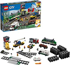 LEGO City Cargo Train Exclusive 60198 Remote Control Train Building Set with Tracks for Kids(1226 Pieces)