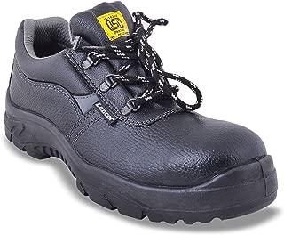 Lancer 103LAG Men's Safety Shoe with Steel Toe Cap, Size-10 UK, Black