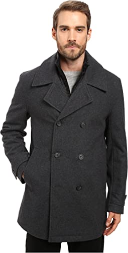 Marc New York by Andrew Marc - Cushing Pressed Wool Peacoat w/ Removable Quilted Bib
