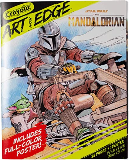 Amazon Com Crayola Mandalorian Coloring Book With Poster Baby Yoda Featured Styles Vary 28 Pages Toys Games