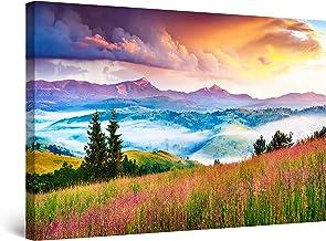 Startonight Canvas Wall Art Decor Flower Carpet Mountain Landscape Painting for Living Room 80 x 120 cm