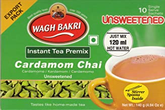Wagh Bakri Instant Cardamom Chai Tea Unsweetened - 10 Sachets