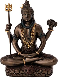 Top Collection Mini Hindu Figurines Sm. Shiva 3300 - FBA