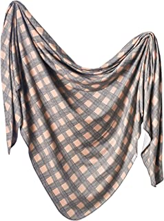"""Large Premium Knit Baby Swaddle Receiving Blanket""""Billy"""" by Copper Pearl"""