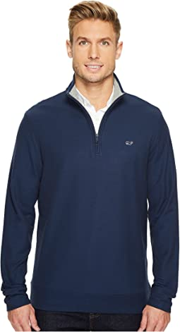 Vineyard Vines - Reverse Oxford Pique 1/4 Zip