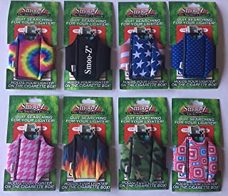 4 Smoo-Z Smoker's Coozie Cigarette Case And Lighter Holder,Different Design