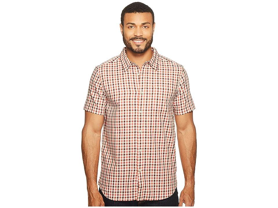 The North Face Short Sleeve Passport Shirt (Sunbaked Red Plaid (Prior Season)) Men