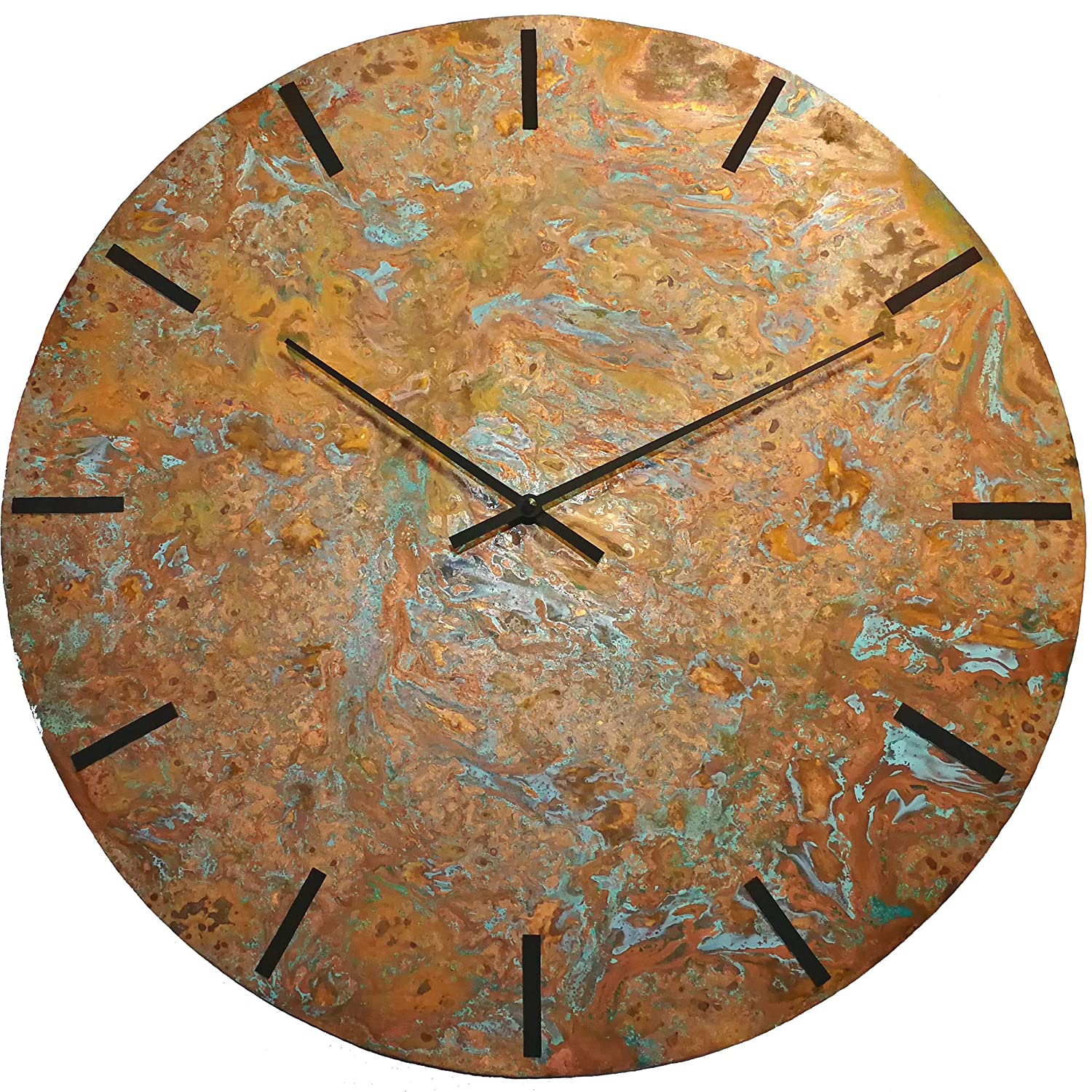 20-inch Copper Wall Clock - Rustic Gift Art Free shipping Max 40% OFF on posting reviews Decor Anniversary