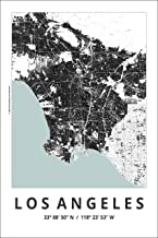 Spitzy's Map of Los Angeles California 12 by 18 Inch City Map Poster - Traveler, United States, Adventurer, Modern Wall Decor Art